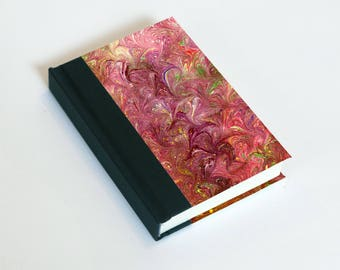"Sketchbook 4x6"" with motifs of marbled papers - 1"