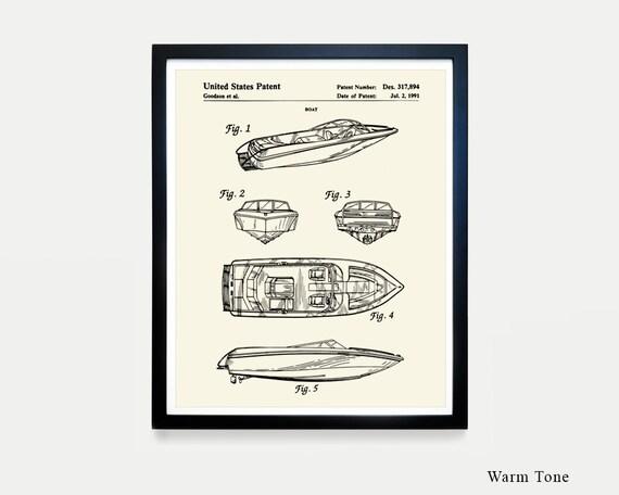 Boat - Mastercraft - Speed Boat - Lake Art - Fishing Art - Boat Patent - Maritime Poster - Nautical Poster - Maritime Wall Art - Canvas Art