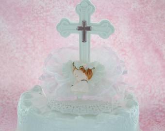 First Communion Topper / Girl First Communion Cake Topper / Dedication cake toper
