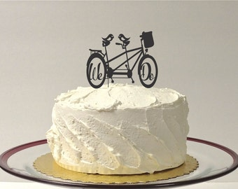 MADE In USA, Bicycle Wedding Cake Topper, Bike Cake Topper, Wedding Cake Topper Mountain Bike, Cake Topper Cyclist, Bicycle for Two