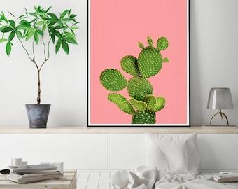 50%OFF,  Cactus Print Cactus Wall Art Modern Poster Modern Decor Printable Digital Download Printable Instant Download