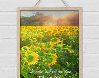 BOW DOWN Sunflower print