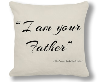 The Empire Strikes Back 1980 Film Quote Cushion Cover (FQ021 - Natural)