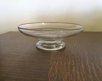 Antique Flint glass compote c 1850's,