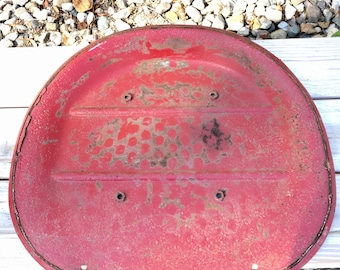 Vintage Red Tractor Seat