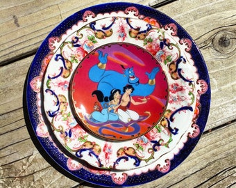 Aladdin Plate • Disney • Disneyland • Magic Carpet Ride • Vintage Jeanie Jasmine Wall Disney Plate