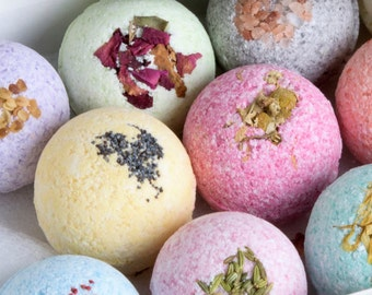 WHOLESALE 36 All Natural Bath Bombs! Bulk Bath Fizzies, Bath bombs the Best Favor Gifts or Party Favors! All Natural with Essential Oils!