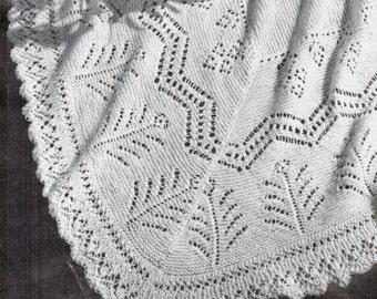 Heirloom Marigold Lace Shawl Pattern PDF / flower shawl pattern / wedding shawl / Leaf motif lace shawl