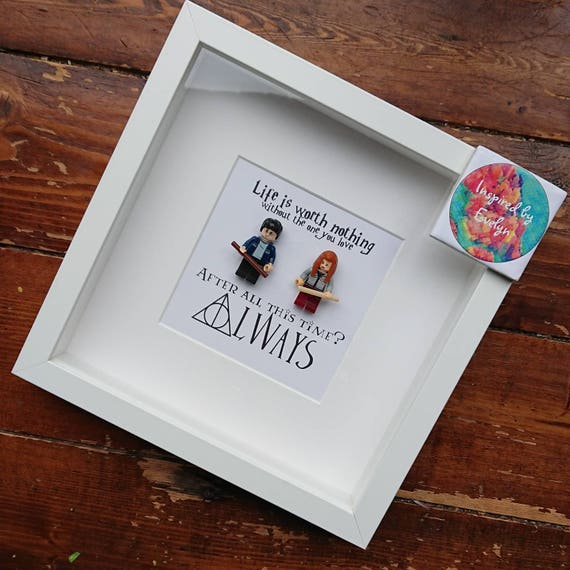 Shadow Box Frame//Harry Potter//Minifigure//Ronald Weasley//Hermionie  Granger//Gift//Personalise/Geek/Love/Wedding/Anniversary//Always//Lego From  ...