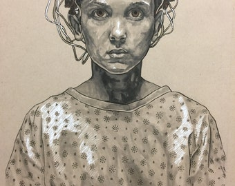 Stranger Things Eleven Portrait Original Artwork