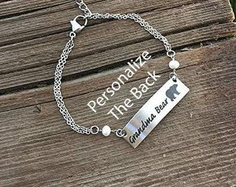 Grandma Bear Bracelet Bear Jewelry For Grandma Gift Bear Gift for Mother's Day  Bracelet Birthday Christmas Mama Bear Cubs