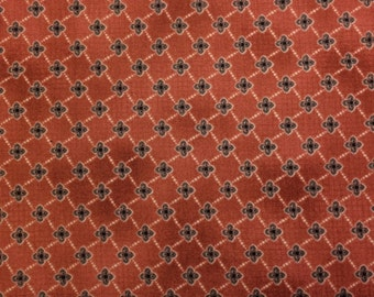 Red Rooster COTTAGE BASICS - GEOMETRIC (Dk Red) 100% Premium Cotton Quilt Fabric - Per 1/2 yd