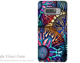 Colorful Abstract Galaxy Note 8 Case - Coral Case for Samsung Galaxy Note 8 with Abstract Art - Cosmic Star Coral - Premium Dual Layer Case