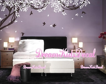 Wall Murals Nursery wall decal baby wall decal children wall decal room vinyl decal stickers nature trees decal with flying birds-DK187
