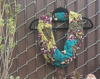 Patchwork Crocheted Cowl