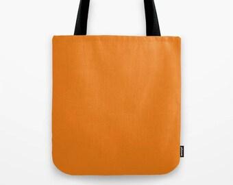 Orange pumpkin tote bag,solid color bag,minimalist bag,large bag,simple shopping bag,market bag,unique tote bag,girlfriend gift,holiday gift