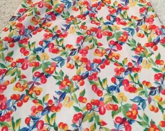 Vintage Cherry Print Skirt