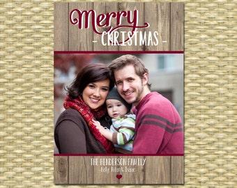 Rustic Christmas Photo Card Photo Christmas Card Holiday Photo Card Photo Holiday Card Christmas Card Rustic Christmas Card