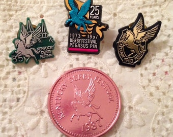 Kentucky Derby Festival Pegasus Pins and Chow Wagon Beer Token