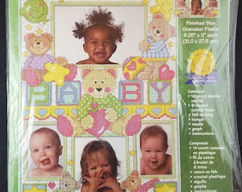 Counted Cross Stitch Kit Frame for Baby Pictures--Unopened