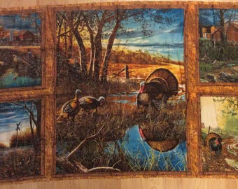 A Wonderful Autumn In The Air Cotton Fabric Panel Free US Shipping