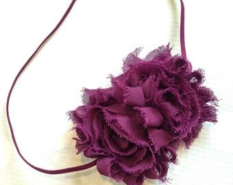 Rose Headband in Plum