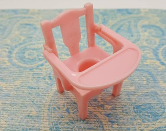 Renwal  Baby Potty Chair Pink  Baby Nursery Doll House Toy  Plastic Pee Potty Training Chair Furniture