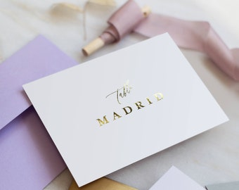 Gold FOIL Table Names - Modern Calligraphy style
