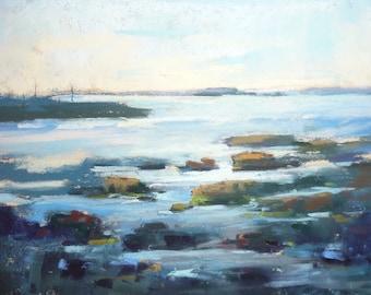 ICELAND Art 7  Landscape plein air Original Pastel Painting Karen Margulis 5x7