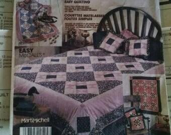 vintage 1987 McCalls crafts quilt pattern