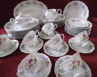 42 Pc Favolina Fine China Spring Gaeland Floral Pattern Service Poland & Poland porcelain | Etsy