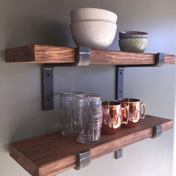 Floating Kitchen Shelves: Industrial Floating Shelves 12 Depth Fixer Upper Style