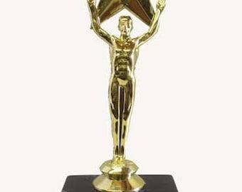 "Recognition Star Trophy, Best Boss, Award Trophy, 7.5"" Oscar Style"