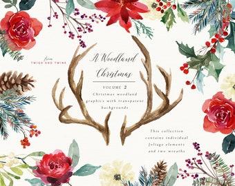 Christmas Clipart - A Woodland Christmas