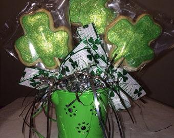 Shamrock Cookie Bouquet
