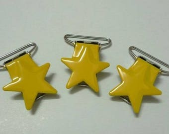 Pacifier clip yellow star