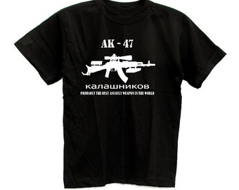AK-47 Kalashnikov Russian Best Assault Weapon T-shirt