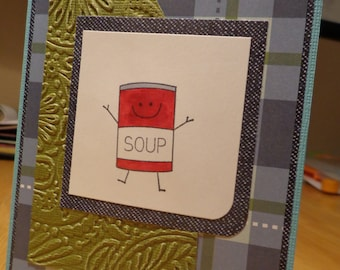 Get well soon smiling soup