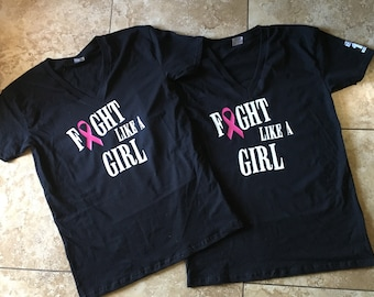 Fight like a GIRL breast cancer awareness shirt