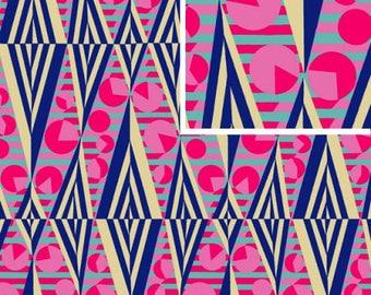 Glow - NAVY - PER 25CM - Amy Butler - HAPI - PWAB118 - 100% Cotton Quilt Fabric