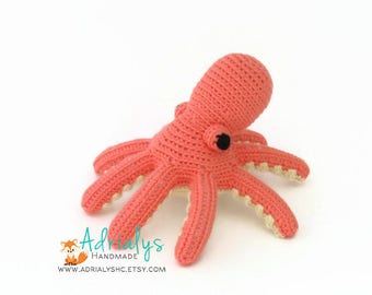 Crochet Octopus- Small Octopus- Stuffed Octopus- Crochet Animals, Under the Sea, Sea Animals, Crochet Toys- Made to Order