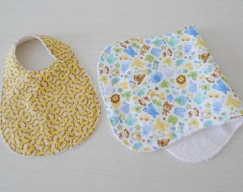 bib & burp cloth set PDF sewing pattern Basic Baby I - easy baby sewing pattern - layette pattern - instant download sewing pattern