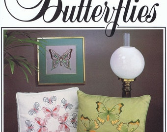 Beautiful Butterflies Embroidery Pattern Including Iron Ons