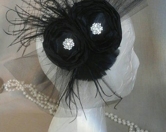 Black Rose Fascinator