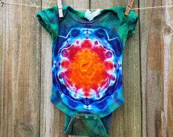 Baby tie dye 6 mo bodysuit / tie dye baby clothes / tie dye baby shirt / hippie baby / baby tye dye bodysuit / baby tye dye/ shower gift