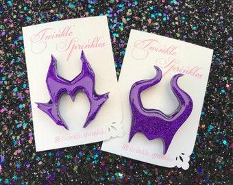 Disney Maleficent inspired resin brooch / necklace
