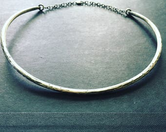 Sterling Silver Choker Necklace Silver Necklace Metal Collar Silver Collar 90s Jewelry daniellerosebean Silver Choker Necklace