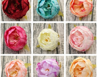 Wholesale Peony Flower Heads Artificial Silk Peonies 9cm 100 Heads For Wedding Floral Supplies Table Centerpieces Hat Hair Crafts KXSY