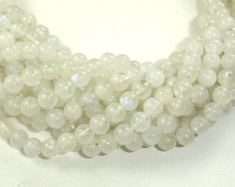 Moonstone Beads, 5.5mm(5.8mm) Round Beads, 15.5 Inch, Full strand, Approx 70-73 beads, Hole 0.8mm, A quality (321054017)