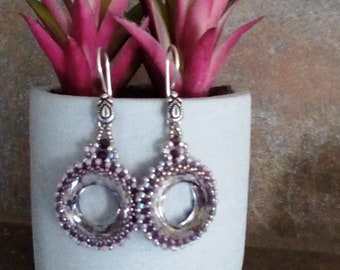 Lavender Cosmic Ring Earrings